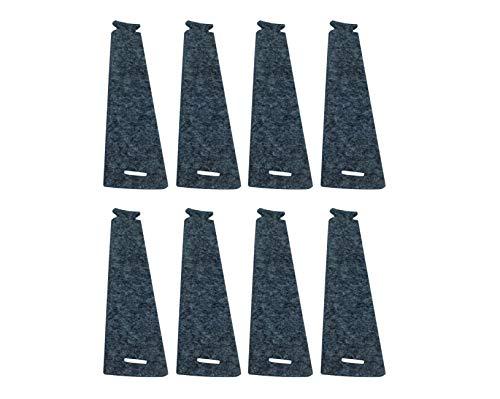 Filz-Kult Serviettenringe, Stoff- und Papierservietten, 4cm Ø, Tischdeko, Serviettenhalterung, 8 STK. grau