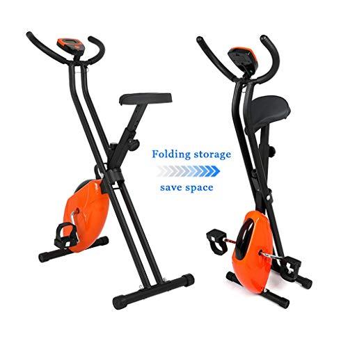 Portátil Bicicleta Estática De Interior Bicicleta De Spinning Silenciosa Plegable para El Hogar Hombres Unisex De Acero Inoxidable para Entrenamiento con Bicicleta