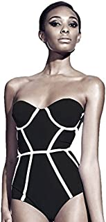 Bikini For Women, Black & White, Medium