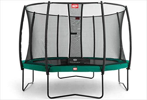 BERG Trampoline Kampioen rond 380 met Veiligheid Behuizing Net Deluxe | Premium Trampoline, Kids trampoline, Langere Levenslange Garantie, Spring hoger met TwinSpring en Airflow