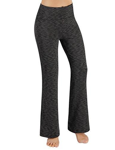 ODODOS Power Flex Boot-Cut Yoga Pants Tummy Control Workout Non See-Through Bootleg Yoga Pants,SpaceDyeCharcoal,XX-Large