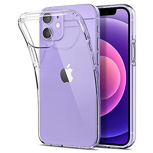 Spigen Liquid Crystal Hülle Kompatibel mit iPhone 12 Mini Transparent Silikon Handyhülle -Crystal Clear