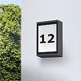 WOFI Wandleuchte, 1-flammig, Serie Hall, 1x LED 6,5 W, 5 x 20 x 16 cm, 3000 k, 320 lm, anthrazit 470