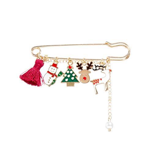 WXXW Christmas Brooches Of Various Shapes Exquisitely Handmade Gifts Accessories, Spilla di Natale Pin di Neve Set con Decorazioni Natalizie in Cristallo,Regali di Natale (Multicolor)