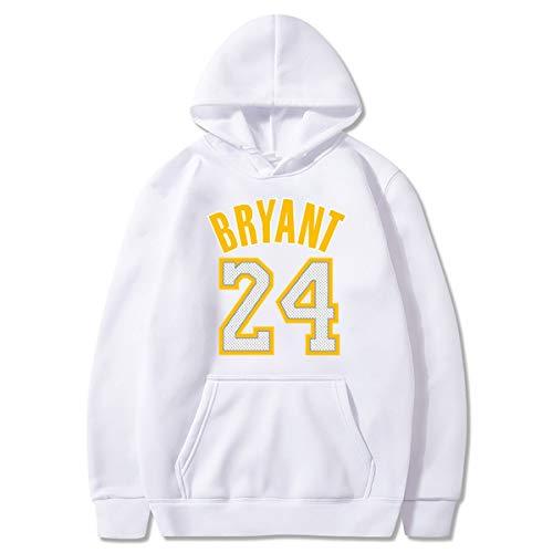 ,E,S JX-PEP Les Hommes et Les Femmes 24# Kobe Bryant Hoodie Basketball Veste de Sport en Vrac Respirant Sweat-Shirt /à Manches Longues S-3XL