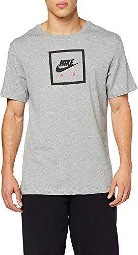 NIKE M NSW SS tee Air 2 Camiseta de Manga Corta, Hombre, dk Grey Heather/(Black), L