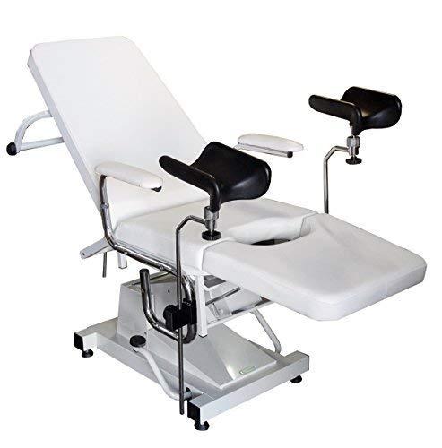Gynstuhl, Gynäkologie Stuhl, Untersuchungsstuhl, Gyn Stuhl, hydraulisch, weiß
