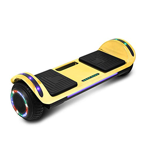 cho Hoverboard Hover Board Electric Scooter Two-Wheel Smart Self Balancing Speaker (Chrome Gold)