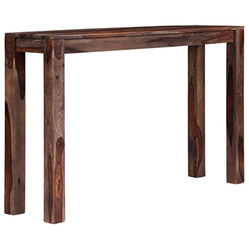 vidaXL Sheeshamholz Massiv Konsolentisch Palisander Konsole Beistelltisch Sideboard Flurtisch Ablagetisch Telefontisch Tisch Grau 120x30x76cm