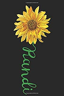Randi: A cute sunflower floral personalized Lined notebook gift idea for Women or little girls named Randi to make her smi...