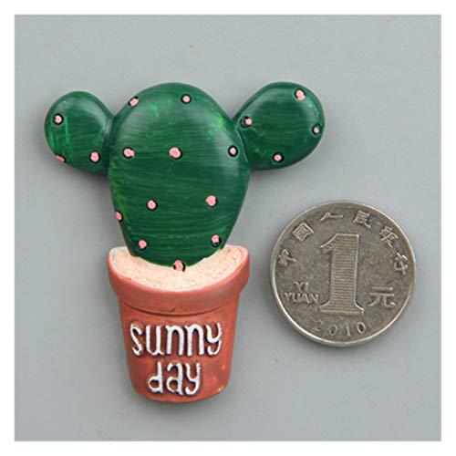 DONGMAISM Imán de refrigerador Linda Planta Cactus Frigorífico Imán Blackboard Notas Sticky Pegatinas Decoración Mensaje Multifunción Multifunción (Color : 2)