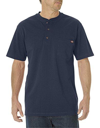 Dickies Camiseta abotonada para hombre., 2T, Azul marino oscuro