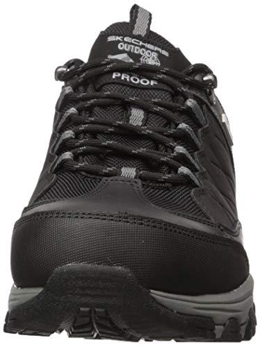 Skechers Selmen-Helson, Zapatillas Hombre, Negro (BLK Black Leather W/Nylon), 39.5 EU