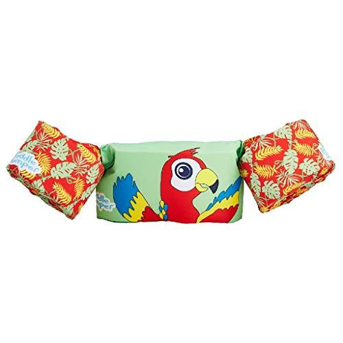Sevylor Schwimmflügel Puddle Jumper für Kinder und Kleinkinder von 2-6 Jahre, 15-30kg, Schwimmscheiben, papagei