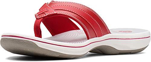 Clarks Mujeres Breeze Sea, Rojo Sintético, 44 EU