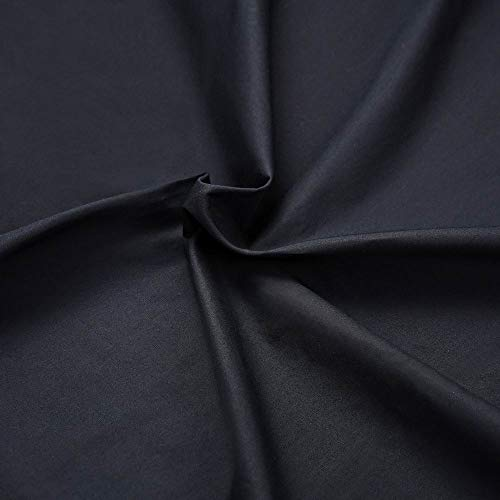Master FAB -Black 100% Cotton Fabric by The Yard for Sewing DIY Crafting Fashion Design Washable Cloth Bundles Voile;Full Width cuttable39 x 55inches (100x140cm) (Black Solid)