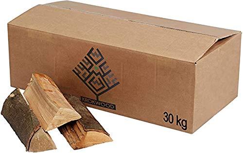 Krok Wood 30 kg Brennholz, Kaminholz 100% Buche für Kaminofen, Lagerfeuer, Feuerschalen (bis 33 cm)