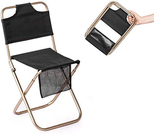 Taburete plegable, Taburete de camping al aire libre, taburete plegable portátil, silla de pesca de tela de Oxford con bolsa de asas, puede contener 200 libras, para acampar, pesca, turismo, senderism