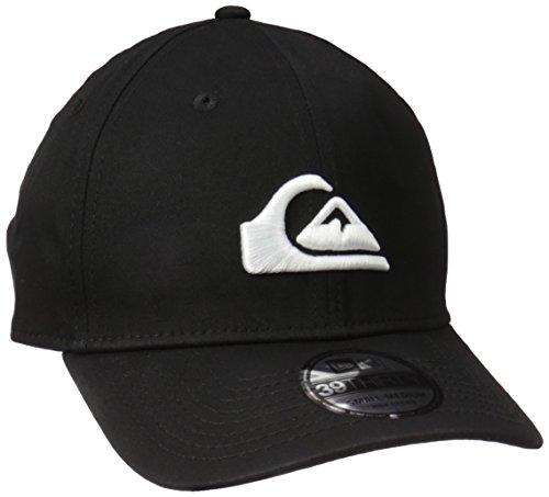 Quiksilver Men's Mountain and Wave Black Hat, White, M/L