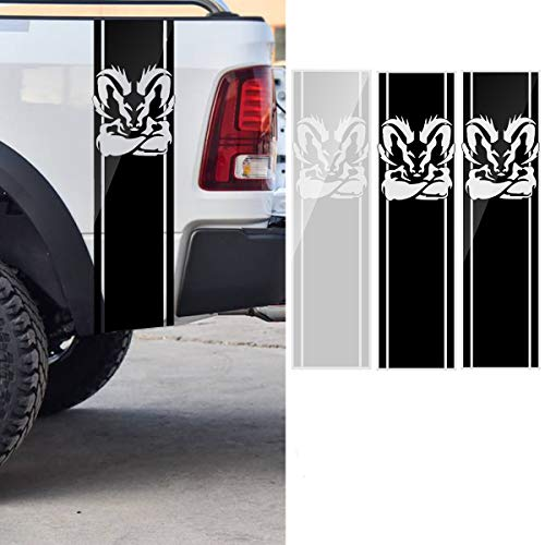 AAlamor 97x 25CM Autostreep Racing Stickers PVC Decals voor Dodge Ram 1500 2500 3500 5.7L DS011 Bright Black