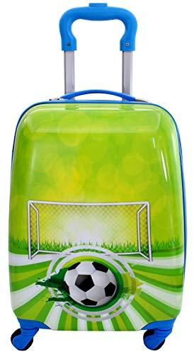 Maleta Infantil de Cabina Trolley Infantil Fantasia Estampados Equipaje de Mano 4 Ruedas giratorias 360 Grados (Balon de Futbol)