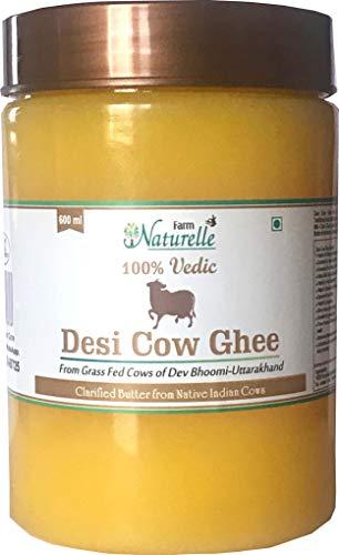 Farm Naturelle Desi Cow Ghee - 100 % Pure Ghee From A2 Milk - 600 ML (20.28oz)
