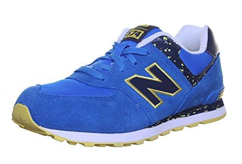 New Balance New Balance Kl574, Damen Hausschuh , blau - Blau/Gelb - Größe: EU 40