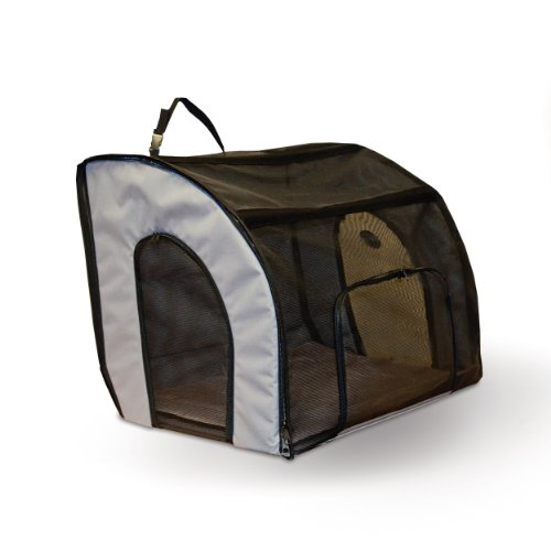 K&H Pet Products Travel Safety Pet Carrier Medium Gray 24