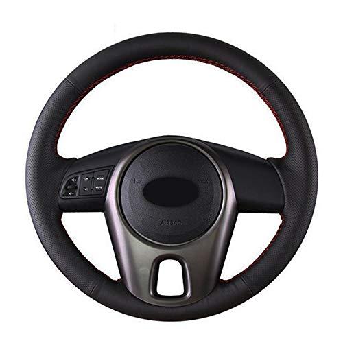 , para la Cubierta del Volante Cosida a Mano Negra Cubierta del Volante del automóvil de Cuero Artificial, para Kia Forte Kia Soul Kia Rio 2009-2011