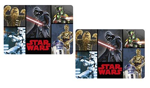 Set di tovagliette: sottomano da pittura, tappetino per bricolage, tovagliette, tovagliette, tovagliette, tappetino per il pranzo, in plastica lavabile 42 x 28 cm (Star Wars AA)