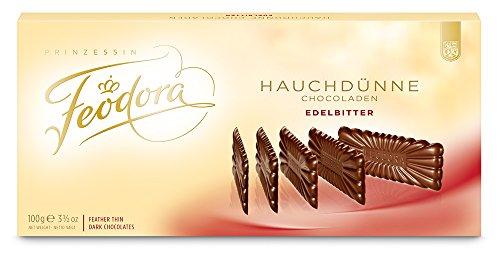Feodora Hauchdünne Chocoladen Edel-Bitter, 2er Pack (2 x 100 g)