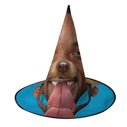 NUJSHF Smith Gorro de Bruja con Filtro para Perro Snapchat, Disfraz Unisex para Vacaciones, Halloween, Navidad, Carnaval, Fiesta