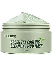Holmeey Groene thee zuiverende klei masker anti-acne diepte reiniging poriën krimpen hydraterende peeling masker olie controle gezichtsmasker voor alle huidtype