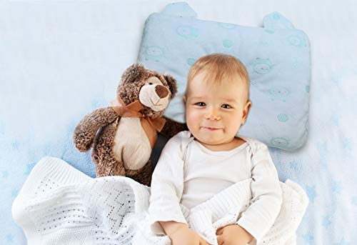 Cuscino Babycare (NUOVO) Per Neonati Antisoffoco. Plagiocefalia Traspirante Sfoderabile E 100% Cotone Lavabile. Utilizzabile Anche Su Passeggino Nanna Sicura...