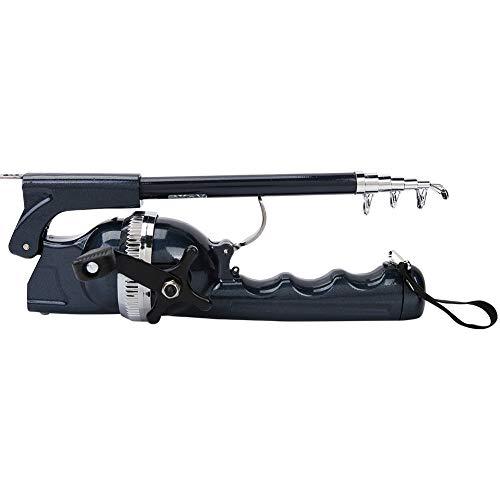 YUN Caña De Pescar Telescópica Plegable con Carrete con Líneas Portátil Casting Lure Tackle