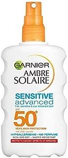 [Garnier ] Solaire敏感な高度なスプレーSpfをアンブレ50+ 200ミリリットル - Ambre Solaire Sensitive Advanced Spray SPF 50+ 200ml [並行輸入品]