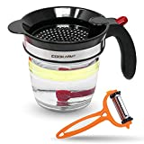 Cook Army Fat Separator with bottom release, 4-Cup Gravy Separator & Fat Separator Cup, Grease Separator For Cooking Gravy, Soups, Stew, Oil Separator, Fat Separator for Gravy, Kitchen Fat Separator
