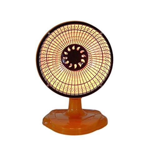 DBSUFV Shake Head Mini Home Heater In Winter 6 Pulgadas Calentador de Oficina de Escritorio Pequeño Sol (Naranja)