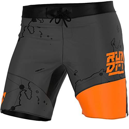 SMMASH Rundefeated Pantalones Crossfit Cortos Hombre Deporte, Shorts Deportivos Hombre para Entrenamiento, Gimnasio, Jogging, Material Transpirable y Antibacteriano, (L)
