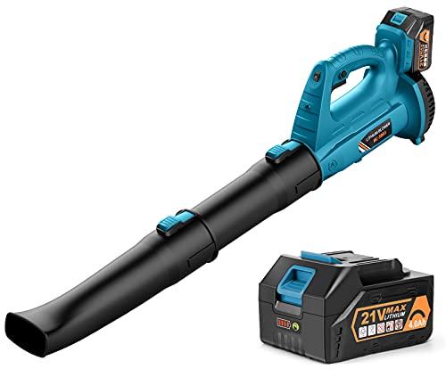 Cordless Leaf Blower - BHY 320 CFM 150 MPH Battery Leaf...
