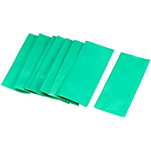 sourcingmap PVC Heat Shrink Tubing Tube 23mm Pre Cut 50pcs for AA Shrink Film 53mm Green