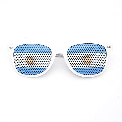 MU-PPX Gafas De Sol para Mujer Gafas De Sol con Montura Blanca Multicolor Gafas De Sol Polarizadas con Protección Uv400 Vintage Shades para Mujer