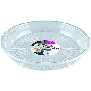 Elho uni-saucer round 16cm saucer - transparent:Deepld