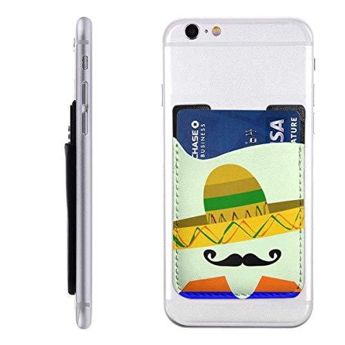 Inner-shop Mobiele kaart Portemonnee Portemonnee Portemonnee Pocket ID Credit Card SleeveGreen Mexicaanse Spaanse Man Sombrero en Grote Snor Rood