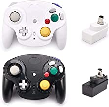 $41 » Poulep Classic Wireless Controller Gamepad with Receiver Adapter, Compatible with for Wii Gamecube NGC GC(Black and White)