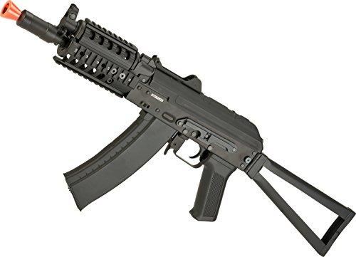 Evike Airsoft - CYMA Standard AKS-74UN RAS Airsoft AEG Rifle with Steel Folding Stock (Package: Gun Only)