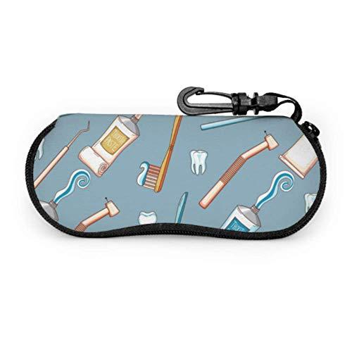 Fundas de gafas Cepillo de dientes y pasta de dientes Ultra Ligero Neopreno con Cremallera Almacenaje Lente Suave Sunglasses Case 8 * 17cm