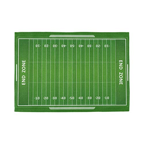 Bardic Unimagic Set of 1 Washable Placemat American Football Field Pattern Table Mats 18x12 Inch Heat Resistant Non Slip Place Mats for Kitchen Dining Table