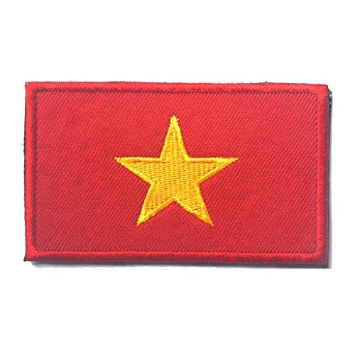 ShowPlus Vietnam VN-Flagge Militärischer bestickter taktischer Patch Morale Schulterapplikation