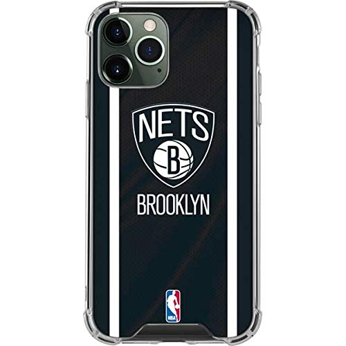 Skinit Clear Phone Case Compatible with iPhone 12 Pro - Officially Licensed NBA Brooklyn Nets Jersey Design